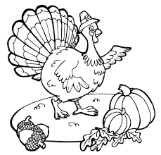 November Coloring Pages For Adults Turkey Acorn Pumpkin Kindergarten Large Size