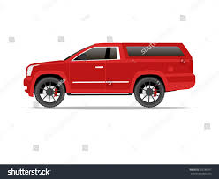 100 Pickup Truck Cap Vector Image Red Two Transportation