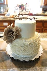 Ruffled Bridal Shower Cake