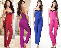pajamas for women soft cotton stretch jersey knit straps