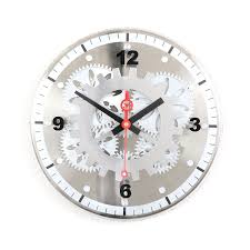 Moving Gear Wall Clock Glass Cover