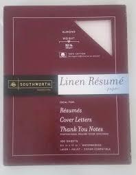 Almond Resume Paper - Southworth 8-1/2