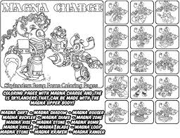 Printable Coloring Page For Kids With Skylanders Swap Force MAGNA CHARGE And All The Different Skylander