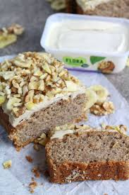 Banana Bread with Creamy Walnut Frosting Vegan & Gluten free