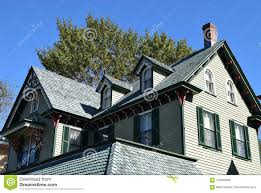 100 Architecture Gable Style Roof On House In Cape May New Jersey Stock