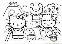 Home Coloring Pages Cartoon Characters Hello Kitty Printable Page