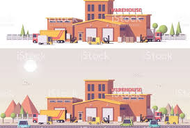 Vector Low Poly 2d Warehouse Royalty Free Stock Art