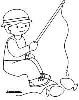 Learning Printables For Kids Boy Fishing