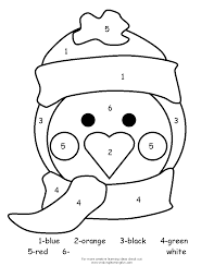 Winter Preschool Crafts Template Penguin DrawingColoring Pages