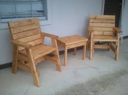 Pallet Adirondack Chair Plans by How To Build 2 Outdoor Arm Chairs And A Side Table Jays Custom