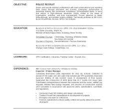 Police Chief Resume Objective Examples Sample Officer Law Enforcement Of Templates Cover Letter R