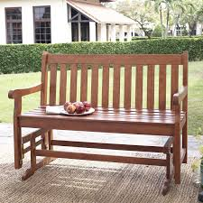 Arlington House Jackson Patio Loveseat Glider by A L Furniture Yellow Pine Traditional English Outdoor Bench Photo