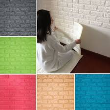 Yazi 3D Tile Wallpaper Black Stone Brick Wall Sticker Panel Thick Soft PE Foam Home Cover Decoration 70x77cm In Stickers From Garden On