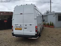 To Fit 07 - 14 Ford Transit MK7 Stainless Steel Rear Corner Bars Van ...