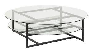 couchtisch loke glastisch rund metall schwarz ø 120 cm