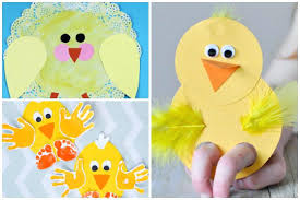 Chick Crafts Yellow Paper