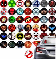 100 Batman Truck Accessories Stickers On Truck Car Skateboard Super Hero Logo Marvel