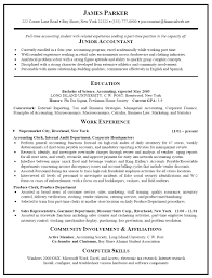 Accountant Resume Examples Samples Accounting Template Free