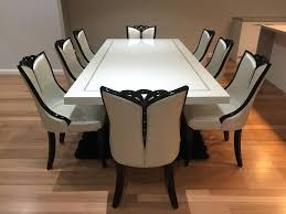 Dining Table With 8 Chairs Marble Set Best Gallery Of Tables Furniture Throughout The Incredible Intende