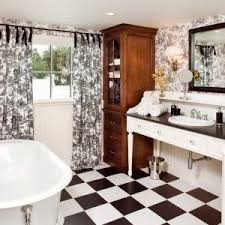 los angeles black and white damask drapes powder room traditional