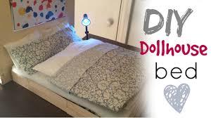 Barbie Living Room Furniture Diy by Diy Craft Barbie Doll Bed Youtube