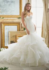 lace and tulle and organza mermaid wedding dress style 2879
