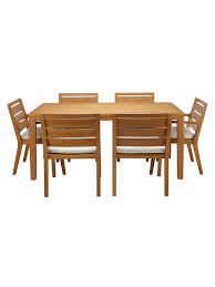 John Lewis & Partners Alta 6 Seat Garden Dining Table / Chairs Set,  FSC-Certified (Eucalyptus Wood), Natural Live Edge Ding Room Portfolio Includes Tables And Chairs Rustic Table Live Edge Wood Farm Table For The Milton Ding Chair Sand Harvest Fniture Custom Massive Redwood Made In Usa Duchess Outlet Amazoncom Qidi Folding Lounge Office Langley Street Aird Upholstered Reviews Wayfair Coaster Room Side Pack Qty 2 100622 Aw Modern Allmodern Forest With Fabric Spring Seat 500 Year Old Mountain Top 4 190512
