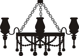 Chandelier Silhouette Icons PNG