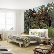 Superhero Room Decor Uk by Rousseau Jungle Painting Wallpaper Custom 3d Wall Murals Vintage