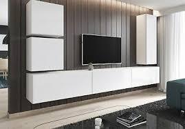 bank sideboard wohnwand wohnzimmer grau hochglanz 100 luk