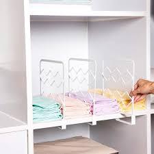 regaltrenner schrank ordnungssystem weiß 4 stücke multifunktional hängender bügel für schlafzimmer küche kabinett schreibtisch aus kunststoff