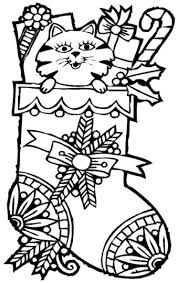 Christmas Cat Coloring Pages 26
