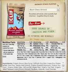 Label For A Clif Bar Notice That The First Ing Is Syrup Aka Sugar