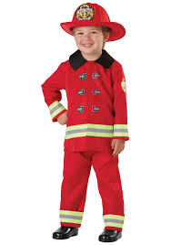 Boys Fireman Toddler Costume - Kids Firefighter Costumes