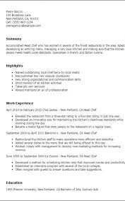 Culinary Resume Templates To Impress Any Employer Livecareer