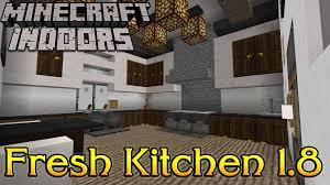 minecraft indoors interior design fresh kitchen 1 8 youtube