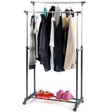 "Felji 53"" Portable Closet Storage Organizer Wardrobe Clothes Rack With"