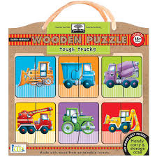 Tough Trucks Wooden 12 Piece Puzzle: 9781601691460 | | Calendars.com