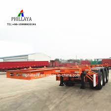 China Skeleton Truck Semi Trailer Chassis Skeleton Deck 20FT 40FT ...