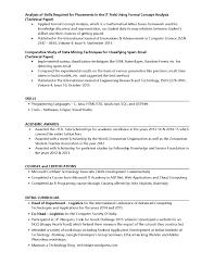 Sample Resume For Us University Application Curriculum Vitae Template
