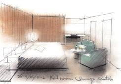 schlafzimmer verschiedene linienstärken zeigen wie