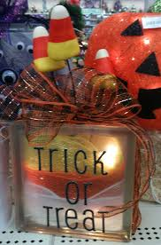 Halloween Candy Dish Craft by Candy Corn Glass Block Designed By A C Moore Severna Park Md