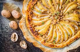 birnenkuchen mit walnüssen und honig