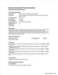 Sample Resume Dental Assistant No Experience Medical Samples