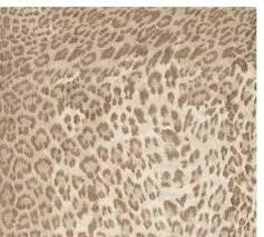 Leopard Printed Rug Neutral Multi