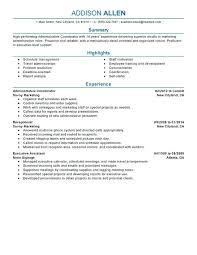 Sample Resume Administrative Officer College Unforgettable Coordinator Examples To Stand Administration And Office Support