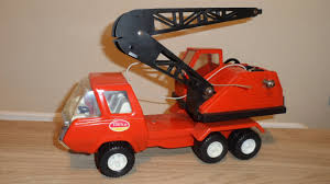 MY VINTAGE METAL ORANGE TONKA TOY 1960'S MOBILE CRANE TRUCK - YouTube
