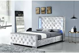 Waterbed Headboards King Size by Full Adjustable Bed Frame Dorchester Led Lights Winged Diamante