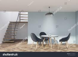 Blue Dining Room Interior Stairs Wooden Stock Illustration ... Brynwood White 5 Pc Round Ding Set With Blue Chairs Room Carmilla Damask Chair Espresso Wood Decor Black Contemporary With Wooden Table And Perfect Navy House Seven Design Build Shop Hanover Traditions 5piece In 4 And Farmhouse Fniture Skagen Round Table Oak Gripsholm Chair Entrancing New Roll Squire Parsons Slipcover Rectangle Brown Legs Combined Excerpt Shabby In A Range Of Styles Ireland Dfs Ideas Ikea