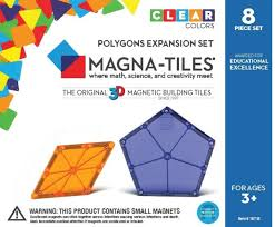 Magna Tiles Amazon Uk by Magna Tiles Polygons 8 Piece Expansion Set Magnatiles